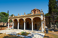 14th century Byzantine Monastery of Vlatades ( Vlatadon ) a Palaeochristian and Byzantine Monuments of Thessaloniki, Greece. A UNESCO World Heritage Site. ,