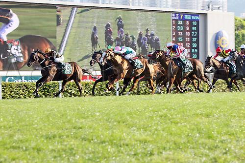 11.12.2011. Hong Kong, China. Able One with Jeff Lloyd Up Wins The Cathay Pacific Hong Kong Mile Sha Tin Racecourse