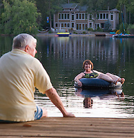 Couple, at Medford Lakes, New Jersey