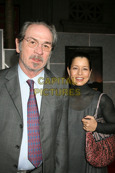 "TOMMY LEE JONES & wife Dawn.""No Country For Old Men"" Los Angeles Premiere held at the El Capitan Theatre, Hollywood, California, .USA,  4 November 2007..half length beard glasses.CAP/ADM/RE.©Russ Elliot/AdMedia/Capital Pictures."