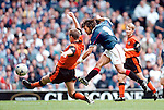 Rangers v Dundee Utd 23.8.97:  Marco Negri fires in his fifth goal of the match