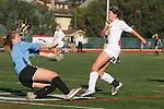 Manhattan Beach, CA 01/25/10 - Mandy McKeegan (Mira Costa #12) and Sierra Ponthier (Palos Verdes #0)in action during the Bay League game between Mira Costa and Palos Verdes, Palos Verdes defeated Mira Costa 2-0.