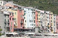 Una veduta di Porto Venere, con i suoi caratteristicI alti palazzi affacciati sul mare.<br /> A view of Porto Venere with its typical tall houses.<br /> UPDATE IMAGES PRESS/Riccardo De Luca
