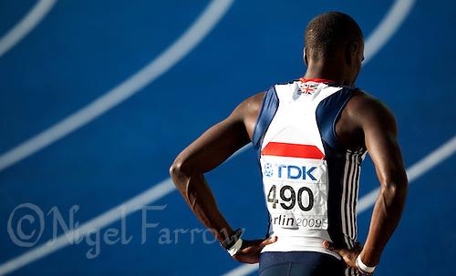 19 AUG 2009 - BERLIN, GER - Michael Bingham (GBR) - Mens 400m Semi Final - World Athletics Championships .(PHOTO (C) NIGEL FARROW)