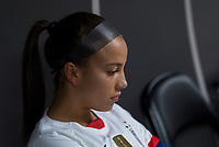 , FL - : Mallory Pugh #2 of the United States waits in the locker room during a game between  at  on ,  in , Florida.
