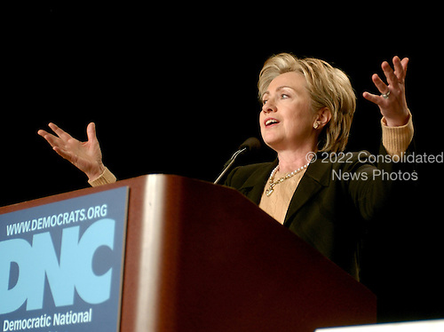 Washington, D.C. - February 2, 2007 --         a candidate for the Democratic Party's 2008 Presidential nomination, speaks at the 2007 Democratic National Committee Winter Meeting in Washington, D.C. on Friday, February 2, 2007..Credit: Ron Sachs / CNP