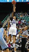 Tip-off of the Championship Game of the 34th Annual Atlantic Coast Conference Women's Basketball Tournament. (Photo by Rob Rowe)