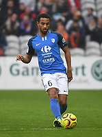 20181124 - LENS , FRANCE : Grenoble's Ryan Sanusi pictured during the soccer match between Racing Club de LENS and Grenoble Foot 38, on the 15th  matchday in the French Dominos pizza Ligue 2 at the Stade Bollaert Delelis stadium , Lens . Saturday 24 Novembre 2018 . PHOTO DIRK VUYLSTEKE | SPORTPIX.BE