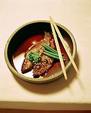 JAPAN, Kyushu, traditional Japanese dinner, Ryokan Yoyokaku