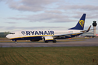 A Ryanair Boeing 737-8AS Registration SP-RSN at Manchester Airport on 11.2.19 going to Wroclaw Copernicus Airport, Poland.