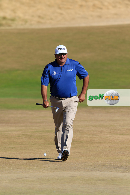 Angel Cabrera (ARG) walks to the 5th green during Friday's Round 2 of the 2015 U.S. Open 115th National Championship held at Chambers Bay, Seattle, Washington, USA. 6/20/2015.<br /> Picture: Golffile | Eoin Clarke<br /> <br /> <br /> <br /> <br /> All photo usage must carry mandatory copyright credit (&copy; Golffile | Eoin Clarke)