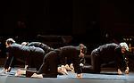 ENTRACTE....Choregraphie : NADJ Josef..Compositeur : SZELEVENYI Akosh..Compagnie : Centre Choregraphique National d Orleans..Decor : BOSSON Jacqueline..Lumiere : NICOLAS Remi..Costumes : YAPO Francoise..Avec :..FATJO Ivan..GEMZA Peter..ROSTAING Marlene..NADJ Josef..Musiciens..BENKO Robert..BROCHARD Eric..ETEVENARD Gildas..SZLEVENYI Akosh..Lieu : Theatre de la Ville..Ville : Paris..Le : 09 02 2009..© Laurent Paillier / www.photosdedanse.com..All rights reserved