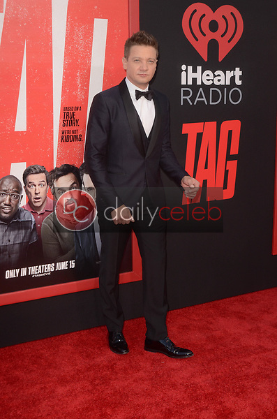 """Jeremy Renner<br /> at the """"Tag"""" World Premiere, Village Theater, Westwood, CA 06-07-17<br /> David Edwards/DailyCeleb.com 818-249-4998"""