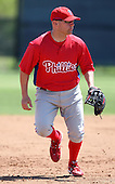 March 30, 2010:  Infielder Patrick Neil Sellers of the Philadelphia Phillies organization during Spring Training at the Carpenter Complex in Clearwater, FL.  Photo By Mike Janes/Four Seam Images