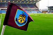 10th September 2017, Turf Moor, Burnley, England; EPL Premier League football, Burnley versus Crystal Palace; A general view inside the stadium of the corner flag with the stand in the background