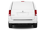 Straight rear view of a 2015 Ram base tradesman 5 Door Cargo Van stock images