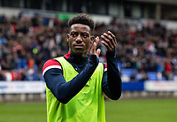 Bolton Wanderers' De'Mario Brown-Sterling acknowledges the applause from the crowd at the end of the match<br /> <br /> Photographer Andrew Kearns/CameraSport<br /> <br /> The EFL Sky Bet Championship - Bolton Wanderers v Coventry City - Saturday 10th August 2019 - University of Bolton Stadium - Bolton<br /> <br /> World Copyright © 2019 CameraSport. All rights reserved. 43 Linden Ave. Countesthorpe. Leicester. England. LE8 5PG - Tel: +44 (0) 116 277 4147 - admin@camerasport.com - www.camerasport.com
