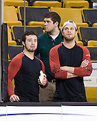 Wahsontiio Stacey (Vermont - 9), ?, Viktor Stålberg (Vermont - 18) - The Boston College Eagles defeated the University of Vermont Catamounts 4-0 in the Hockey East championship game on Saturday, March 22, 2008, at TD BankNorth Garden in Boston, Massachusetts.