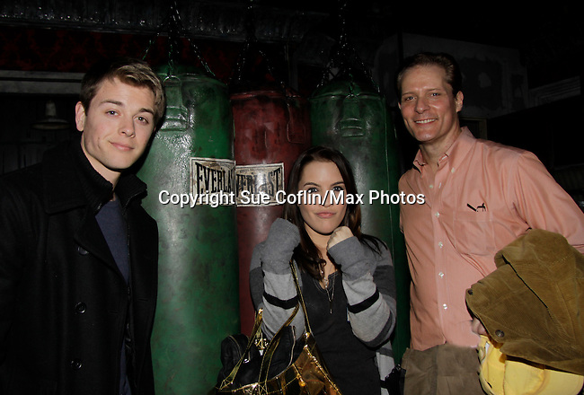 General Hospital's Chad Duell and Kristen Alderson came to New York City and went to see Broadway's Rocky on April 25, 2014 starring David Andrew MacDonald (Guiding Light and Another World) and then went backstage to meet the actors. Photos were taken backstage and on stage. (Photo by Sue Coflin/Max Photos)