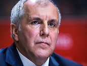 22nd March 2018, Aleksandar Nikolic Hall, Belgrade, Serbia; Turkish Airlines Euroleague Basketball, Crvena Zvezda mts Belgrade versus Fenerbahce Dogus Istanbul; Head Coach Zeljko Obradovic of Fenerbahce Dogus Istanbul looks on before the match