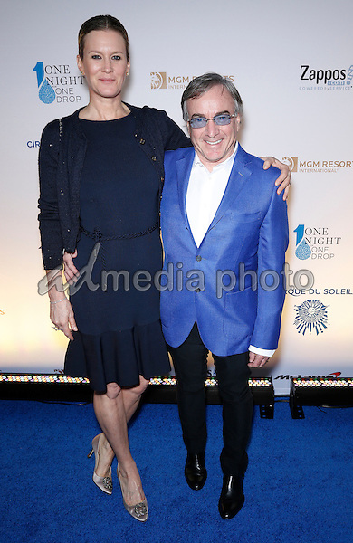 18 March 2016 - Las Vegas, Nevada -  Daniel Lemarre, Emmanuelle Duperre. Cirque Du Soleil presents star-studded blue carpet at Fourth Annual One Night for ONE DROP at the Cleveland Clinic Lou Ruvo Center for Brain Health. Photo Credit: MJT/AdMedia