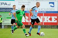 RODINGHAUSEN, Voetbal, Rodinghausen - FC Groningen, voorbereiding  seizoen 2017-2018, 15-07-2017, FC Groningen speler Jesper Drost met Nico Knystock