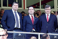 Rayo Vallecano's President Martin Presa (c) and Real Sociedad's Vice President Mikel Ubarrechena (l) with the State Secretary for Sports Miguel Cardenal during La Liga match.April 14,2013. (ALTERPHOTOS/Acero)