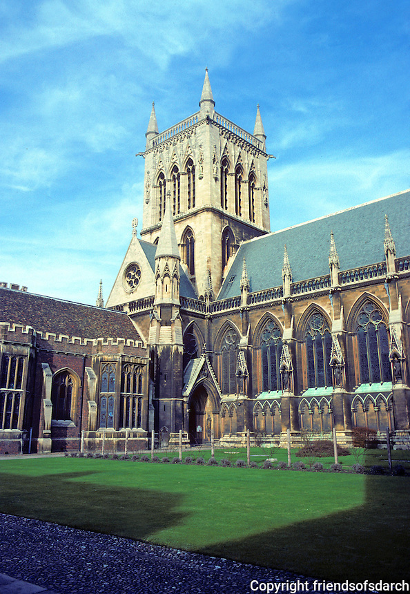 Cambridge: Chapel, St. John's College. Sir Gilbert Scott. Gothic Revival. Photo '82.