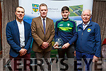 The Kerry U21 All Ireland Winning team received their Kerry County Council and Municipal District Award at the ceremony in the Rose Hotel on Thursday night.<br /> L to r: Ian Brick (Manager), Tim Murphy (Chairman Kerry Co Comm), Jason Diggins and Christy Killeen