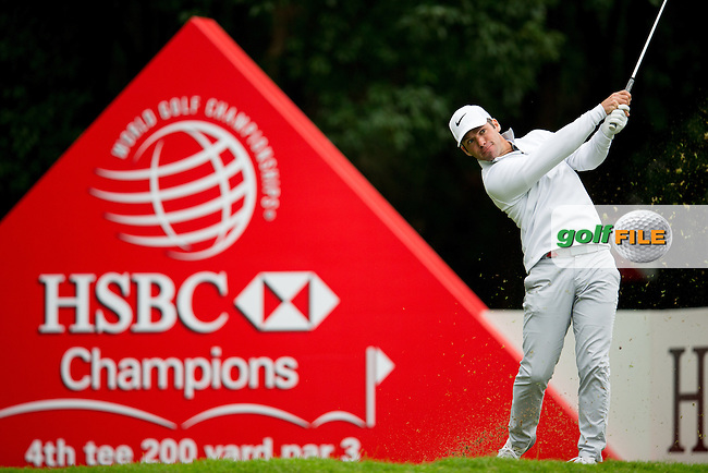 Paul Casey (ENG) on the 4th tee during round 2 at the WGC-HSBC Champions, Sheshan International GC, Shanghai, China PR.  28/10/2016<br /> Picture: Golffile | Fran Caffrey<br /> <br /> <br /> All photo usage must carry mandatory copyright credit (&copy; Golffile | Fran Caffrey)