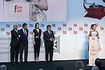 Madrid President Ignacio Gonzalez, Culture Minister Ignacio Wert and Queen Letizia of Spain attend the 'Barco de Vapor' literature awards at the Casa de Correos in Madrid, Spain. April 21, 2015. (ALTERPHOTOS/Victor Blanco)