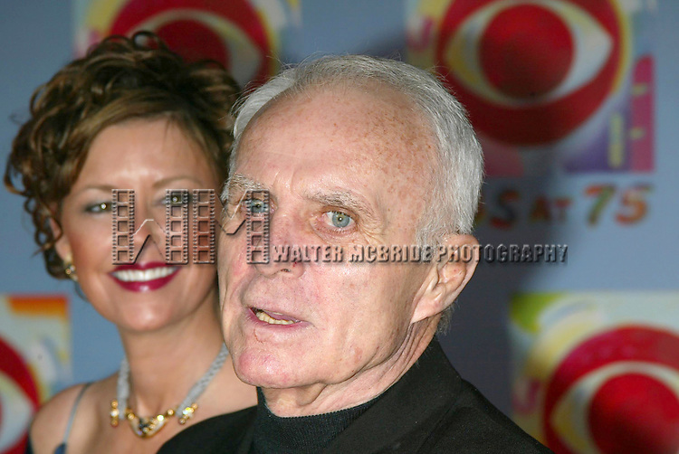 Robert Conrad and wife Lavelda Conrad attending CBS AT 75, a three hour entertainment extravaganza commemorating CBS's 75th Anniversary, which will be  broadcast live from the Hammerstein Ballroom at New York's Manhattan Center in New York City.<br />