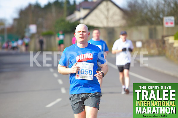 1059 Pat Carey who took part in the Kerry's Eye, Tralee International Marathon on Saturday March 16th 2013.