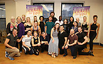 Nancy Opel, Mark Linn-Baker, Laurra Osnes, Tony Yazbeck, Jerry O'Connell, Rachel Bloom, Rachel Dratch and Jack McBrayer with the cast during the Press Rehearsal for the Manhattan Concert Production of 'Crazy For You'  at Pearl Studios on 2/16/2017 in New York City.