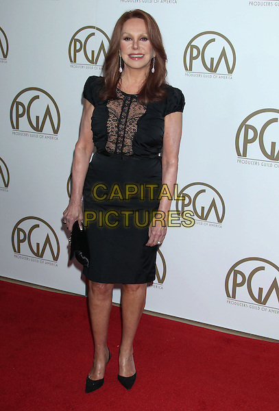 Marlo Thomas.At the 24th Annual Producers Guild Awards held at the Beverly Hilton Hotel, Beverly Hills, California, USA,.26th January 2013..PGAs PGA arrivals full length cut out dress clutch bag shoes black lace sheer .CAP/ADM/RE.©Russ Elliot/AdMedia/Capital Pictures.