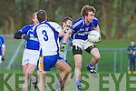 Pa Joy laune Rangers Emmet Ashe Keel in the Mid Kerry championship quarter final in Killorglin on Saturday