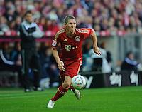 Fussball Bundesliga Saison 2011/2012 9. Spieltag FC Bayern Muenchen - Hertha BSC Berlin Bastian SCHWEINSTEIGER (FCB).