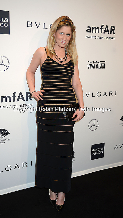 Delfina Carzon  attends the amfAR New York Gala on February 5, 2014 at Cipriani Wall Street in New York City.