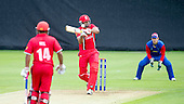 ICC World T20 Qualifier (Warm up match) - Canada V Namibia at Heriots CC, Edinburgh - Canada bat Rizwan Cheema connects for another maximum in his 98 run knock — credit @ICC/Donald MacLeod - 06.7.15 - 07702 319 738 -clanmacleod@btinternet.com - www.donald-macleod.com