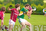 Kerry's Michael O'Sullivan and Galway's James Shaughnessy.