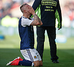 Dejection for Leigh Griffiths as England equalise at the end