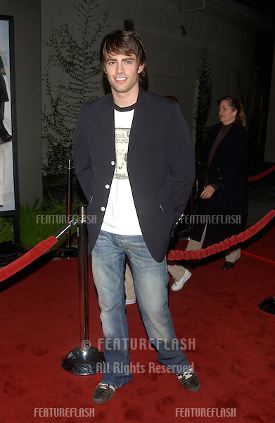 Actor JONATHAN BENNETT at the world premiere, in Hollywood, of The Perfect Score..January 27, 2004