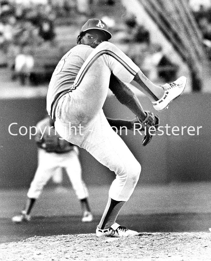 Oakland Athletics pitcher Vida Blue...(1972 photo/Ron Riesterer)