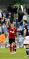 GOAL - Ipswich Town's Martin Waghorn celebrates with the fans during the Sky Bet Championship match between Millwall and Ipswich Town at The Den, London, England on 15 August 2017. Photo by Carlton Myrie.