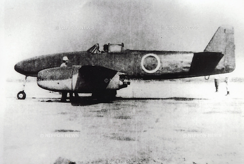 Undated - Kikka was Japan's first jet-powered aircraft. It was developed late in World War II and the first prototype had only flown once before the end of the conflict. (Photo by Kingendai Photo Library/AFLO)