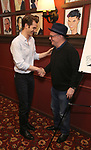 Andrew Garfield and Nathan Lane attends the Sardi's portrait unveiling for Andrew Garfield at Sardi's on May 31, 2018 in New York City.