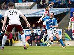 St Johnstone v Rangers&Ouml;21.05.17     SPFL    McDiarmid Park<br /> Chrsi Kane battles with Jason Holt<br /> Picture by Graeme Hart.<br /> Copyright Perthshire Picture Agency<br /> Tel: 01738 623350  Mobile: 07990 594431