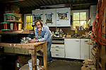 Piet Willem Chevalier poses in his workshop in the Netherlands...One day Mr. Chevalier found himself driving off the road while staring at some wind turbines. As a mechanical engineer he was transfixed by the turbines and he soon started working for Siemens as a mechanical engineer. ..However, this desk intensive position didnt satisfy Mr. Chevaliers desire to work with his hands. Around this same time that he became aware of a design by Hugh Piggot to create affordable, self made turbines. Learning how to build these turbines has changed his life. ..His organization, I Love Windpower, is using the open source technology to bring power to Mali. In Africa, where the poorest often pay the most for electricity, Mr Chevaliers vision, workshops and hard work are providing knowledge and skills for cheap, reliable clean energy that is transforming communities. The technology is simple, easy and made from local materials, making it a perfect solution for small communities in Africa.