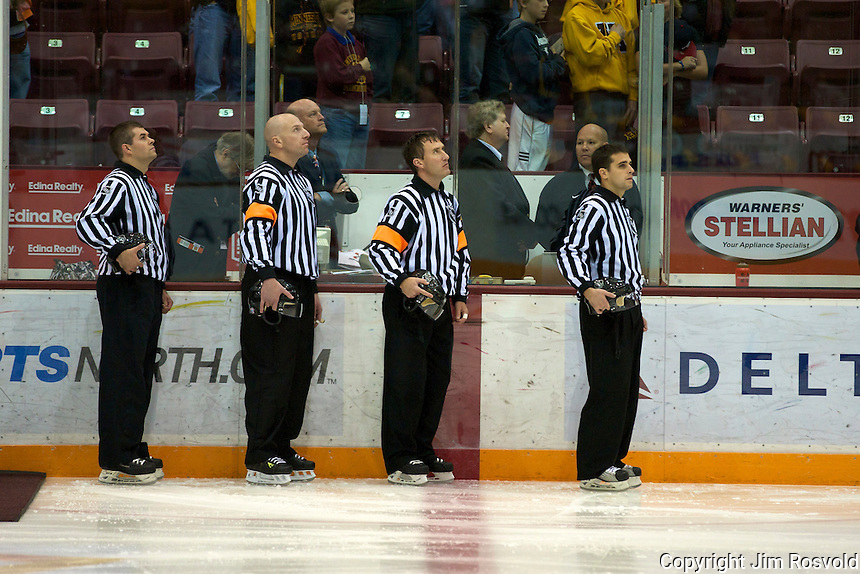 21 Oct 11: WCHA Referees. The University of Minnesota Golden Gophers host the University of Vermont Catamounts in a non-conference matchup at Mariucci Arena in Minneapolis, MN.