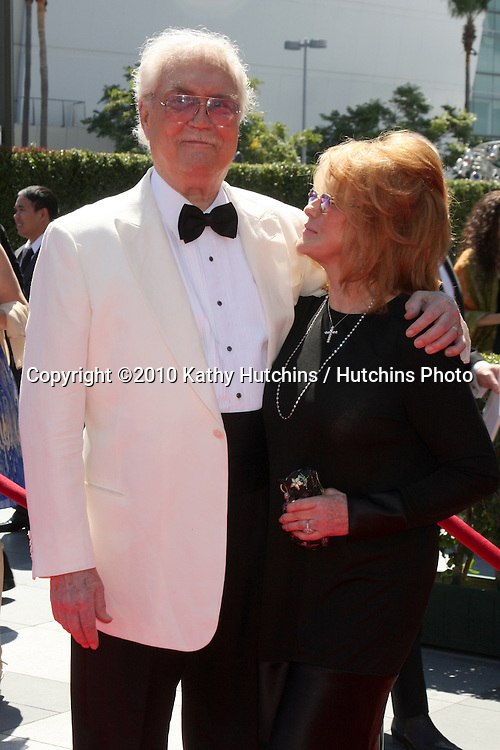 LOS ANGELES - AUG 21:  Roger Smith & Ann-Margret arrives at the 2010 Creative Primetime Emmy Awards at Nokia Theater at LA Live on August 21, 2010 in Los Angeles, CA